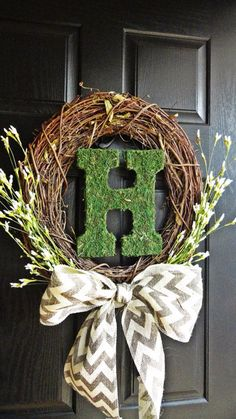 I think this is my favorite one so far for a spring/summer wreath!