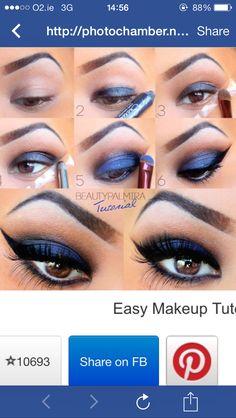 Eye shadow - navy blue