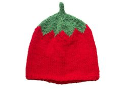 Items similar to Tomato Hat, Hand Knitted Beanie Baby Adult Fruit Fruity on Etsy Knit Hat For Men, Hats For Men, Handmade Christmas Gifts, Christmas Ornaments, Handmade Gifts, Animal Hats, Baby Hands, Knitting Accessories, Knit Beanie