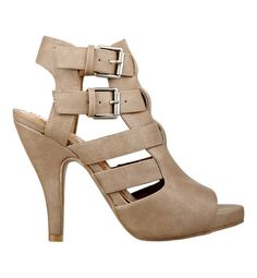 Glinda: As lovely as the good witch herself! Sexy cutouts and bold buckles, make this heel a head-turner. $65.00