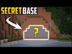 Minecraft: How To Build A Secret Base Tutorial ( In this Minecraft build tutorial I show you how to make a secret base that uses a redstone torch key pist. Minecraft Videos, How To Play Minecraft, Minecraft Party, Minecraft Starter House, Hidden House, Secret House, Minecraft Survival, Minecraft Tutorial, Games