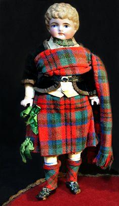 Antique Highlander Doll by Kling ~ Ruby Lane