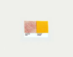 Pantone Pairings - Ham & Cheese