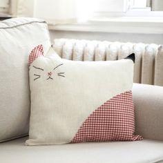 Cat cushion from thImble art @ designlocks ! So cute :)