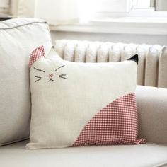 Cat cushion from thImble art @ designlocks ! So cute :)