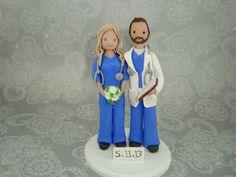 Doctor & Nurse Customized Wedding Cake Topper