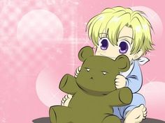 Little Tamaki & him teddy bear