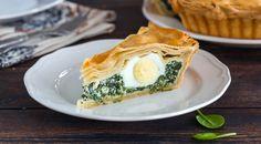 Πασχαλινή πίτα με αυγά και τραγανό φύλλο Spanakopita, Food And Drink, Cooking Recipes, Eggs, Breakfast, Ethnic Recipes, Breakfast Cafe, Cooker Recipes, Egg