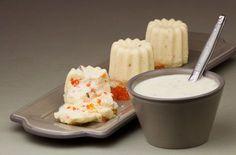 Suflé de queso y huevas de arenque