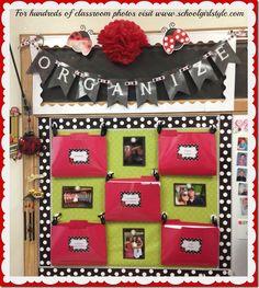 Ladybug classroom decor and organization. Schoolgirl Style