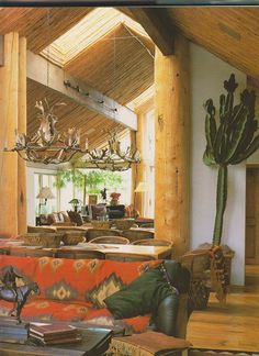 So fun!  I love the great wood in here, and the southwest flavor!  #Decor #Southwest #Wood