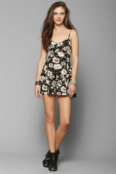 Kimchi Blue Bow-Back Romper #urbanoutfitters