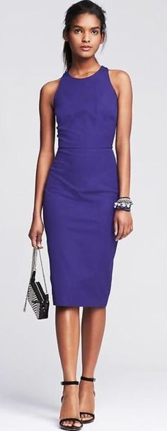 Banana Republic Purple Sloan-fit Racerback Dress sz 8 NWT new #BananaRepublic #Sheath