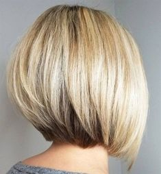 60 Layered Bob Styles: Modern Haircuts with Layers for Any Occasion - Pretty Bob with Stacked V-Cut Layers - Layered Bob Hairstyles, Short Bob Haircuts, Modern Haircuts, Hairstyles Haircuts, Straight Hairstyles, Boy Haircuts, Ponytail Hairstyles, Medium Stacked Haircuts, Medium Stacked Bobs