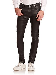 Helmut Lang Skinny-Fit Leather Pants