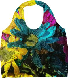 Psychedelic Daisies Eco Bag from Print All Over Me