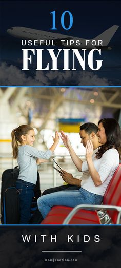 10 Useful Tips To Make Air Travel With Your Kids Easier: Read on to know how you can turn a scary and difficult situation into a hassle-free travel experience. Here are ten tips to make air travel with your kids easier. #Parenting