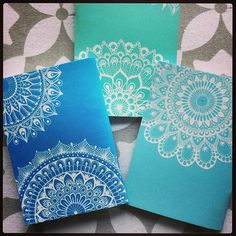 #mandala #mandalas #decorated #notebooks #decoration #whiteink #whitemandala #lacedesign #ink #pretty #notes #write #sketch #sketchbook #creative #handmade #hippystyle #zen #zendala