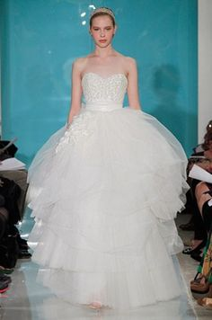 Reem Acra Wedding Dresses, Gowns, Layers, Spring 2013 || Colin Cowie Weddings Reem Acra, Spring 2013