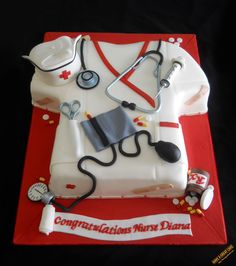 Nurse Cake...Hey, I never did get a cake!  Maybe I'll show this to Jay ;)