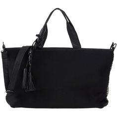 Silvian Heach Handbag (120 BGN) ❤ liked on Polyvore featuring bags, handbags, shoulder bags, black, zip bags, black handbags, black shopping bags, zipper purse and black purse