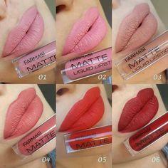 How to Apply Farmasi Matte Liquid Lipstick? Lipstick Swatches, Lipstick Colors, Lip Colors, Matte Lipsticks, 24 Hour Lipstick, Liquid Lipstick, Linda Hallberg, Makeup Dupes, Makeup Lipstick