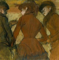 Edgar Degas, Three Women at the Races. Courtesy of the Denver Art Museum.