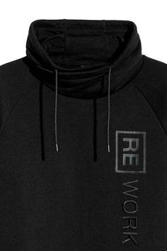 Boru Yakalı Sweatshirt - Siyah - ERKEK | H&M TR