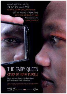 Poster - Fairy Queen opera 2012 - Umculo Cape Festival design