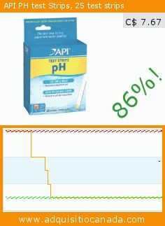 API PH test Strips, 25 test strips (Misc.). Drop 86.006203247583%! Current price C$ 7.67, the previous price was C$ 54.81. https://www.adquisitiocanada.com/mars-fishcare-inc/ph-aquarium-test-strips
