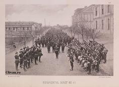 "Regimentul Siret nr. 11, 1902, Romania. Ilustrație din colecțiile Bibliotecii Județene ""V.A. Urechia"" Galați. http://stone.bvau.ro:8282/greenstone/cgi-bin/library.cgi?e=d-01000-00---off-0fotograf--00-1----0-10-0---0---0direct-10---4-------0-1l--11-en-50---20-about---00-3-1-00-0-0-11-1-0utfZz-8-00&a=d&c=fotograf&cl=CL1.29&d=J150_697980"