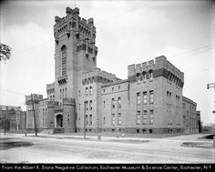 New York State Armory in Rochester, New York 1907 Rochester Homes, Rochester New York, County Court, National Guard, Romanesque, Great Lakes, Hospitals, Tower Bridge, Back In The Day