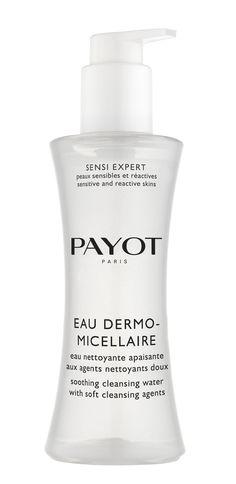 Eau Dermo-Micellaire von PAYOT Für sensible Haut! In nur einem Schritt reinigt dieses beruhigende Gesichtswasser, entfernt sanft Make-up und verleiht der Haut dabei gleichzeitig ein angenehmes Frischegefühl. http://www.best-kosmetik.de/marken/payot/reinigung-peeling/eau-dermo-micellaire.html