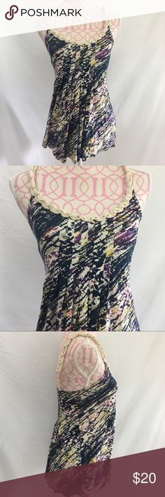 Urban Outfitters Top Size Small Urban Outfitters Silence + Noise splatter top. Pleated. Braided straps. Like new condition.  Size small  Pit to Pit approximately 14.5 inches Length approximately 28 inches 100% Rayon Urban Outfitters Tops Tank Tops