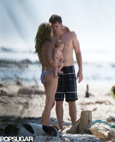 Tom Brady, wife Gisele Bundchen and baby Vivian in Costa Rica, Mar. Gisele Bundchen, Tom Brady Family, Celebrity Couples, Celebrity Photos, New England Patriots Merchandise, Tom Brady And Gisele, Nfl, Baby Friends, Star Wars