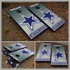 A Dallas Cowboys Cornhole board set!  www.bklboards.com