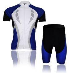 Baleaf Men s Short Sleeve Cycling Jersey 3D Padded Short Set Blue Passion  Style M Baleaf http 4fdd96c91