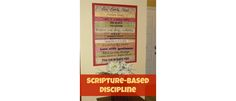 Scripture Based Discipline