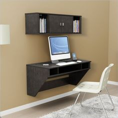 Floating Desk & Hutch