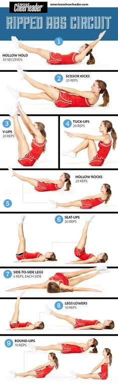 Link doesn't show this but great ab workout!