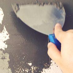 Terminando a padre de cimento queimado.