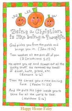 Being a Christian is Like Being a Pumpkin - FREE Printable!
