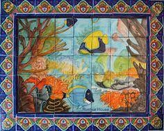 talavera tile mural