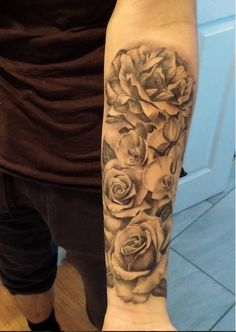 Chronic Ink Tattoo - Toronto Tattoo Roses, orchids, and carnations tattoo done by Marilyn.