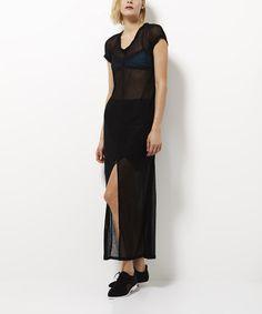 Another great find on #zulily! Black Breeze Sheer Dress by Pink Stitch #zulilyfinds