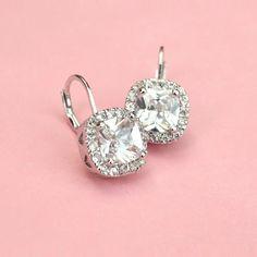 Adorable Cushion Cut Earrings - Kate Ketzal - Beautiful Wedding Jewelry & Adornments