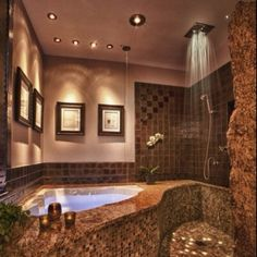 Spa-like bathroom.. Different and interesting