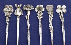 Details of Tiffany & Co. 'Floral' Sterling Silver Demitasse Spoons - set of…