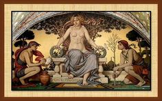 A detail from 'Peace and Prosperity,' a mural created by  Elihu Vedder in 1896 which adorns the Lobby leading  into the Library of Congress' Main Reading Room in Washington, D.C.