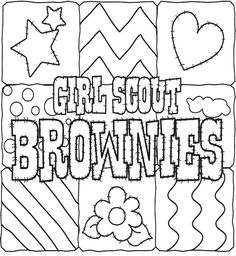 girl scout cookies coloring pages for kids - Girl Scout Brownie Coloring Pages